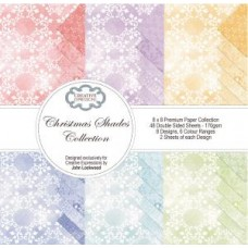 Christmas Shades Collection 8 x 8 Premium Paper Pad