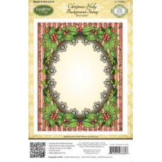 Christmas Holly Background Justrite Cling