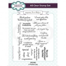Jamie Rodgers - Clear Stamp Set - A Perfect Day