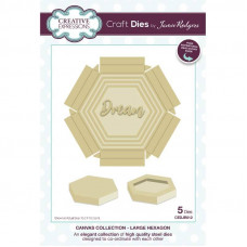 Jamie Rodgers - Canvas Collection - Large Hexagon Craft Die