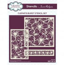 Jamie Rodgers - Clematis Burst Stencil Set