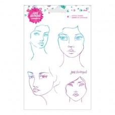 Spellbinders -  Jane Davenport - Acrylic Stamp Set 4