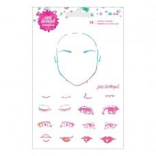 Spellbinders - Jane Davenport - Acrylic Stamp Set 13