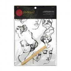 Spellbinders Jane Davenport Masquerade Journal Tattoos