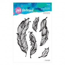 Jane Davenport by Spellbinders - Floating Feathers Clear Stamp Set