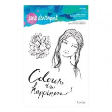 Jane Davenport by Spellbinders - Colour is Happiness Clear Stamp Set