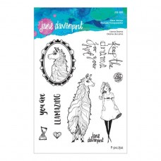 Jane Davenport by Spellbinders - Llama Drama Clear Stamp Set