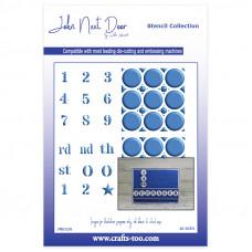 John Next Door Stencil Collection - Numbers