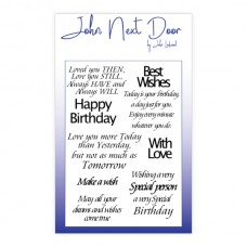 John Next Door Clear Stamp - Loving Sentiments