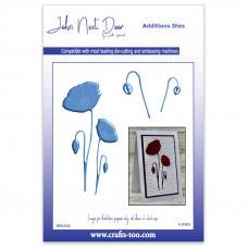 John Next Door - Additions Dies - Classic Poppies
