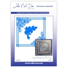 John Next Door Christmas Dies - Poinsettia Frame