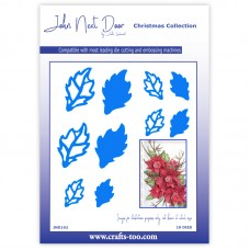 John Next Door Christmas Dies - Poinsettia Leaves - DISPATCHING FROM 16th AUGUST