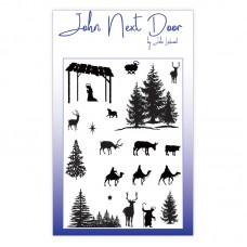 John Next Door Clear Stamp - Festive Silhouettes