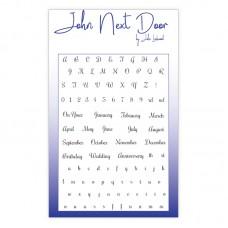John Next Door Clear Stamp - Everyday Alphabet