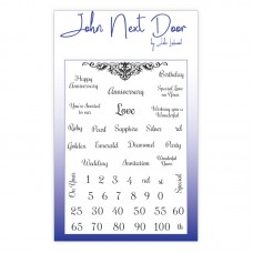 John Next Door Clear Stamp - Anniversary Sentiments