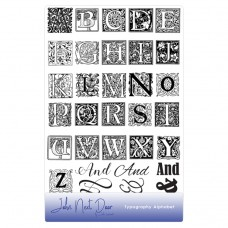 John Next Door Clear Stamp Typography Alphabet