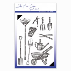 John Next Door - Clear Stamp - Garden Tools