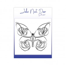 John Next Door - Clear Stamp - Delicate Butterfly