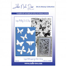 John Next Door - Die and Stamp Collection - Butterfly