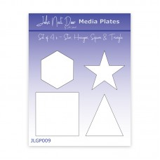 John Next Door Media Plate Set of 4 - Small Star, Hexagon, Square & Triangle