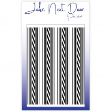 John Next Door - Mask Stencil - Ticking Stripe