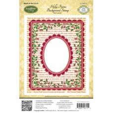 Holly Frame Background Stamp