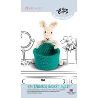 Knitty Critters Basket Buddies - Kim Kangaroo Crochet Kit