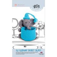 Knitty Critters Basket Buddies - Eli Elephant Crochet Kit