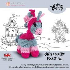 Knitty Critters Pocket Pals - Candy Unicorn Crochet Kit