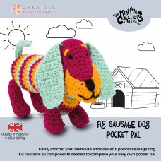Knitty Critters Pocket Pals - Fig Sausage Dog Crochet Kit