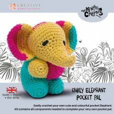 Knitty Critters Pocket Pals - Emily Elephant Crochet Kit