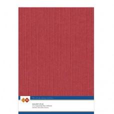Linen A4 Card - Red