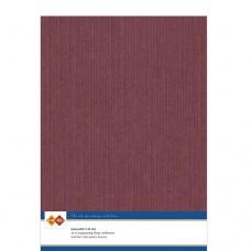 Linen A4 Card - Burgundy