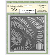 Lisa Horton Crafts - 3D Embossing Folder - Botanical Fern