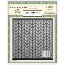 Lisa Horton Crafts - 3D Embossing Folder - Knitted
