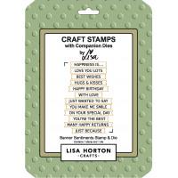 Lisa Horton Crafts - Banner Sentiments Stamp and Die Set