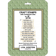 Lisa Horton Crafts - Banner Sentiments Stamp and Die Set
