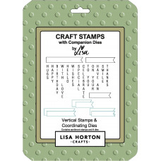 Lisa Horton Crafts - Vertical Stamps and Coordinating Die Set - DISPATCHING WEDNESDAY 21st APRIL