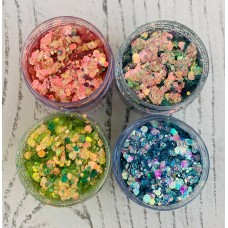 Lisa Horton Crafts - Stardust and Magic Collection Mermaid Tails - Set of 4