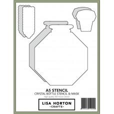 Lisa Horton Crafts - Crystal Bottle Stencil and Mask Set
