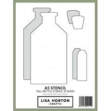 Lisa Horton Crafts - Tall Bottle Stencil and Mask Set