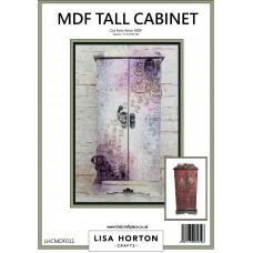 Lisa Horton Crafts - MDF Tall Cupboard with Latch