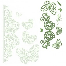 Lisa Horton EdgeCutz Die and DL Stamp - Butterfly Flourish Set