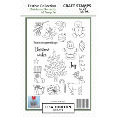 Lisa Horton Crafts - Christmas Elements A5 Stamp Set
