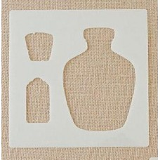 Lisa Horton Crafts - Corked Bottle Stencil + Mask Set