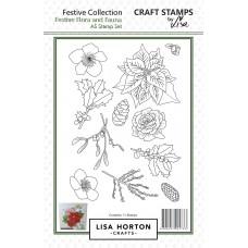 Lisa Horton Crafts -  Festive Flora and Fauna A5 Stamp Set