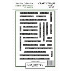 Lisa Horton Crafts - Festive Ticker Phrases A5 Stamp Set