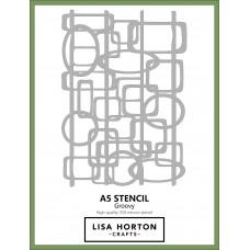 Lisa Horton Crafts - A5 Stencil - Groovy