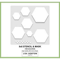 Lisa Horton Crafts - Aperture Stencils - Hexagons and Triangles