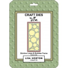 Lisa Horton Crafts - Slimline Loops and Bubbles Frame Die Set